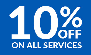 10 % Off fON ALL SERVICES