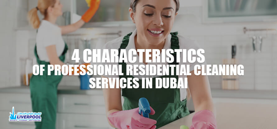 characteristics of residential cleaning services in Dubai